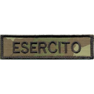 TOPPA PATCH NOME RICAMATO CON VELCRO SOFTAIR VEGETATO ESERCITO cm 11 x 3